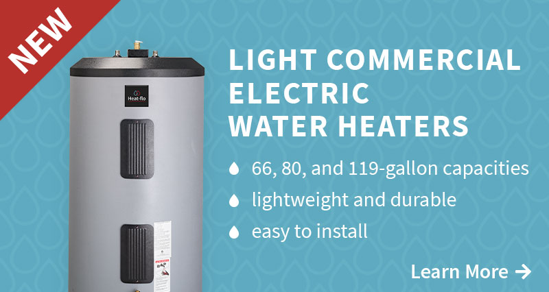 New! Light Commercial Electric Water Heaters